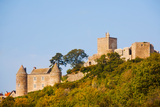 Low Angle View of a Castle on a Hill, Brancion, Maconnais, Saone-Et-Loire, Burgundy, France Photographic Print by Green Light Collection