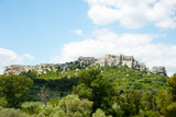 Low Angle View of a Ruined Town on a Rock Outcrop, Les Baux-De-Provence, Bouches-Du-Rhone Photographic Print by Green Light Collection