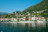 Building in a Town at the Waterfront, Argeno, Lake Como, Lombardy, Italy Photographic Print by Green Light Collection