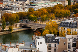 Seine River and City Viewed from the Notre Dame Cathedral, Paris, Ile-De-France, France Photographic Print by Green Light Collection