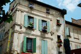 Low Angle View of an Old Building with Flower Pots on Each Window, Rue Des Arenes, Arles Photographic Print by Green Light Collection