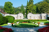Garden at Villa D'Este Hotel, Cernobbio, Lake Como, Lombardy, Italy Photographic Print by Green Light Collection