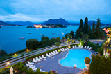 Aerial View of a Swimming Pool at Hotel, Villa E Palazzo Aminta, Isola Bella, Stresa Photographic Print by Green Light Collection