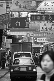 Traffic on Queen's Road Central, Central District, Hong Kong Island, Hong Kong Photographic Print by Green Light Collection