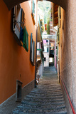 Town Steep Street, Varenna, Como, Lombardy, Italy Photographic Print by Green Light Collection