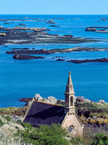 La Trinite Chapel at Ile-De-Brehat Archipelago, Cotes-D'Armor, Brittany, France Photographic Print by Green Light Collection