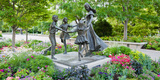 Bronze Statue of Mother and Children, Temple Square, Salt Lake City, Utah, USA Photographic Print by Green Light Collection