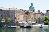 Buildings Alongside Lake Como at Piazza Cavour, Como, Lombardy, Italy Photographic Print by Green Light Collection