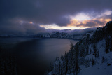 Crater Lake at Sunrise, South Rim, Crater Lake National Park, Oregon, USA Photographic Print by Green Light Collection