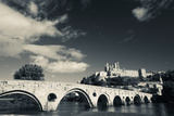 Pont Vieux Bridge with Cathedrale Saint-Nazaire in the Background, Beziers, Herault Photographic Print by Green Light Collection