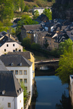 Houses in a Town, Grund, Luxembourg City, Luxembourg Photographic Print by Green Light Collection