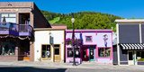 Buildings Along a Street, Main Street, Park City, Utah, USA Photographic Print by Green Light Collection