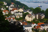 Houses in a Town, Blankenese, Hamburg, Germany Photographic Print by Green Light Collection
