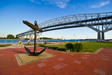 Blue Water Bridge at Port Huron, Michigan, USA Photographic Print by Green Light Collection