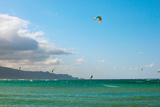 Tourists Kiteboarding in the Ocean, Maui, Hawaii, USA Photographic Print by Green Light Collection