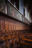 Choir Stalls at Abbatiale Saint-Robert, La Chaise-Dieu, Haute-Loire, Auvergne, France Photographic Print by Green Light Collection