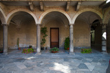 Courtyard of a Building, Como, Lombardy, Italy Photographic Print by Green Light Collection