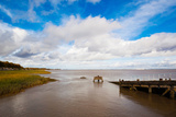 Town Pier on the Gironde River, Pauillac, Haut Medoc, Gironde, Aquitaine, France Photographic Print by Green Light Collection