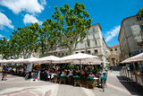 Tourists at Sidewalk Cafes, Place De L'Horloge, Avignon, Vaucluse, Provence-Alpes-Cote D'Azur Photographic Print by Green Light Collection