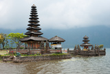 Pura Ulun Danu Bratan Temple on the Edge of Lake Bratan, Baturiti, Bali, Indonesia Photographic Print by Green Light Collection