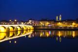 Bridge Lit Up at Night, Pont St-Laurent Bridge, Macon, Burgundy, Saone-Et-Loire, France Photographic Print by Green Light Collection