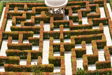 High Angle View of Maze at Ritz-Carlton Residences, Singapore Photographic Print by Green Light Collection