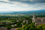 High Angle View of a Church, Bonnieux, Vaucluse, Provence-Alpes-Cote D'Azur, France Photographic Print by Green Light Collection