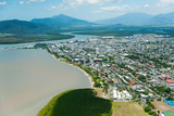 Aerial View of the City at Waterfront, Cairns, Queensland, Australia Photographic Print by Green Light Collection
