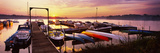 Boats in a Lake at Sunset, Lake Champlain, Vermont, USA Photographic Print
