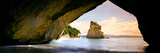 Rock Formations in the Pacific Ocean, Cathedral Cove, Coromandel, East Coast, North Island Photographic Print
