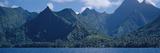 Mountains at the Coast, Tahiti, Society Islands, French Polynesia Photographic Print