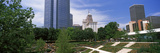 Botanical Garden with Skyscrapers in the Background, Myriad Botanical Gardens, Oklahoma City Photographic Print