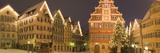 Buildings Lit Up at Night During Christmas, Esslingen Am Neckar, Stuttgart, Baden-Wurttemberg Photographic Print