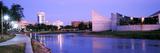 Buildings at the Waterfront, Arkansas River, Wichita, Kansas, USA Photographic Print