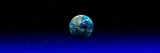 Earth in Space with Blue Mist (Photo Illustration) Photographic Print