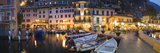 Boats at a Harbor, Limone Harbor, Lake Garda, Lombardy, Italy Photographic Print