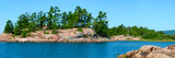Trees on an Island, Red Island, Killarney, Ontario, Canada Photographic Print