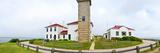 Lighthouse on the Coast, Beavertail Lighthouse, Narragansett Bay, Jamestown Island Photographic Print