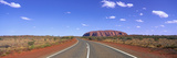 Road and Ayers Rock Australia Photographic Print