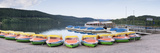 Rowboats at the Lakeside, Lake Titisee, Titisee-Neustadt, Black Forest, Baden-Wurttemberg, Germany Photographic Print
