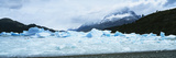 Glacier on a Mountain Range, Grey Glacier, Torres Del Paine National Park, Patagonia, Chile Photographic Print