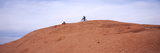 Biker on Slickrock Trail, Moab, Grand County, Utah, USA Photographic Print