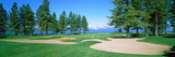 Sand Traps in a Golf Course, Edgewood Tahoe Golf Course, Stateline, Douglas County, Nevada, USA Photographic Print