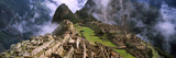 High Angle View of an Archaeological Site, Inca Ruins, Machu Picchu, Cusco Region, Peru Papier Photo