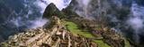 High Angle View of an Archaeological Site, Inca Ruins, Machu Picchu, Cusco Region, Peru - Fotografik Baskı