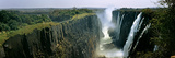 Looking Down the Victoria Falls Gorge from the Zambian Side, Zambia Fotografisk tryk