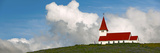 Church on Hill, Vik, Iceland Photographic Print