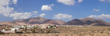 Town with Mountains in the Background, Tunisia, Fuerteventura, Canary Islands, Spain Fotodruck