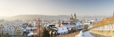 High Angle View of a City in Winter, Esslingen Am Neckar, Baden-Wurttemberg, Germany Photographic Print