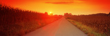 Country Road at Sunset, Milton, Northumberland County, Pennsylvania, USA Photographic Print